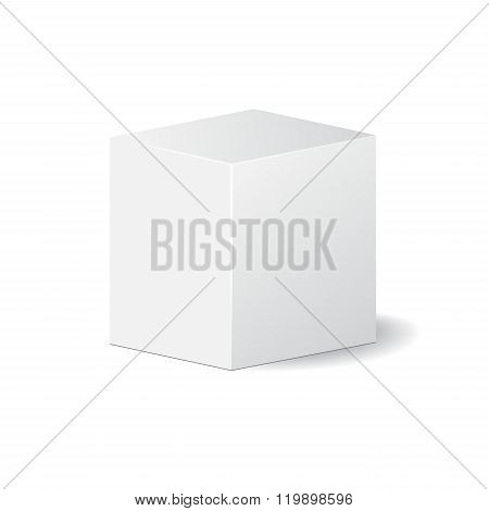 Cardboard Package Isolated Box. Mock Up, Template. Stock Vector