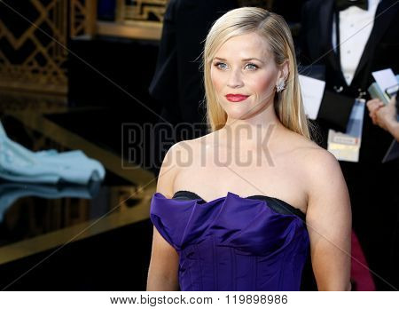 Reese Witherspoon at the 88th Annual Academy Awards held at the Hollywood & Highland Center in Hollywood, USA on February 28, 2016.