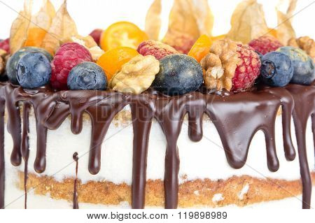 Naked Birthday Cake With Fruits