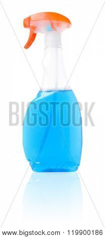 Cleaning fluid isolated on white background.
