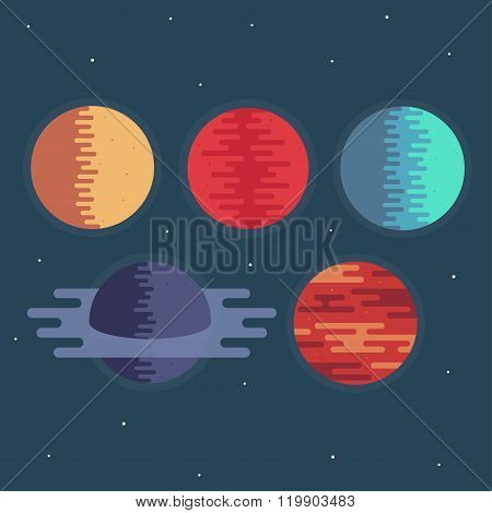 Planets Vector Illustration