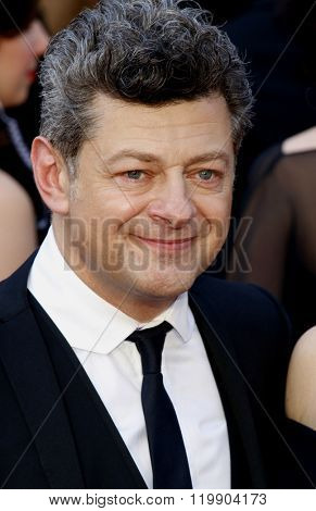 Andy Serkis at the 88th Annual Academy Awards held at the Hollywood & Highland Center in Hollywood, USA on February 28, 2016.