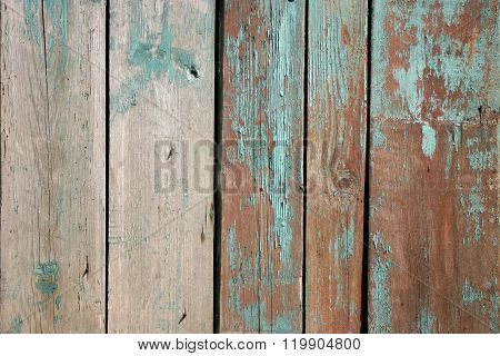 the old wooden boards