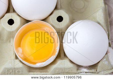 Fresh Eggs in egg carton
