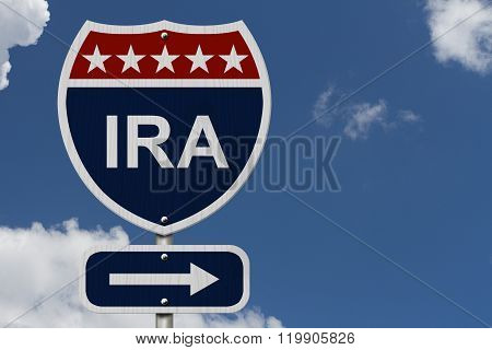 American Ira Highway Road Sign