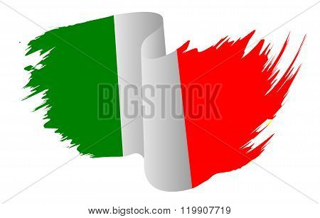 Italy Flag Vector Symbol Icon  Design. Italian Flag Color Illustration Isolated On White Background.