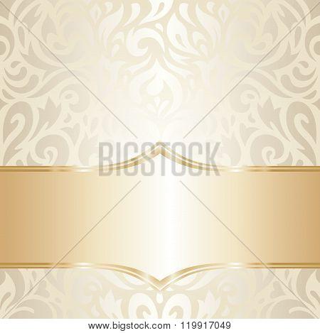Golden floral Wedding vintage design