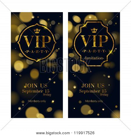 VIP invitation cards premium design template.