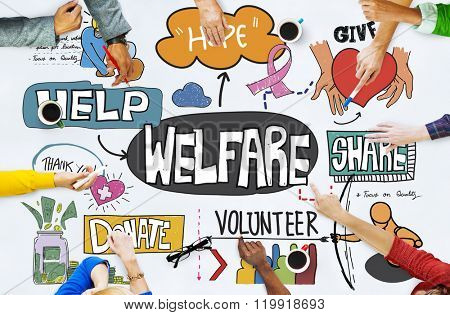Welfare Support Benefit Payment Retirement Concept