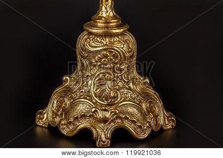 Antique Bronze Candle Holder.