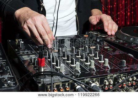 Party DJ at nightclub