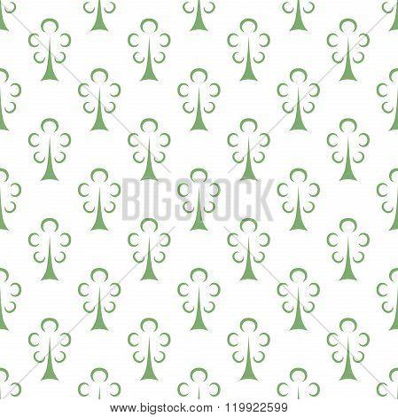 Green Trees Seamless Pattern