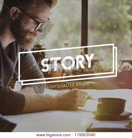 Story Plot Poet Publishing Script Author Journalism Concept