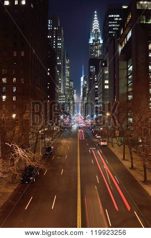 Manhattan At Night.