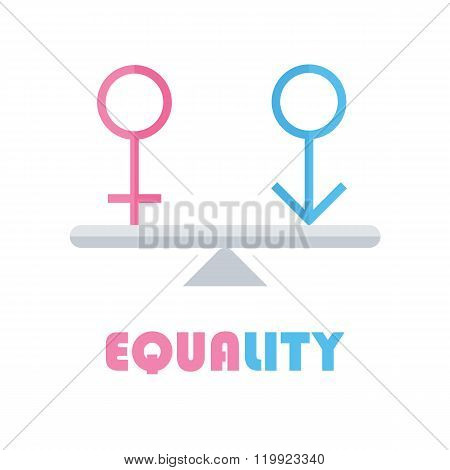 Male and female gender equality concept.