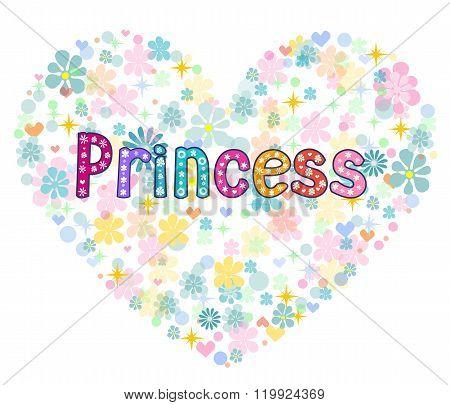 princess greeting card illustration.
