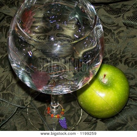 Wine Glass And Apple