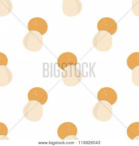 Flat design mushrooms seamless pattern background.
