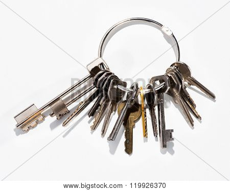 Large Bunch Of Assorted Small Household Keys