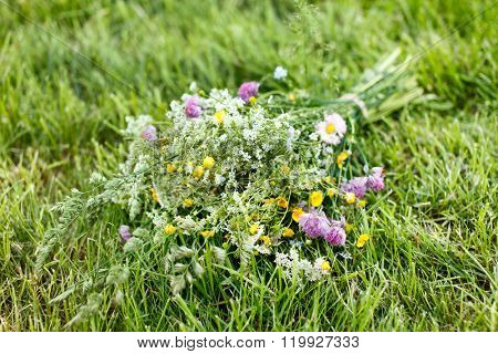 bouquet of bright wildflowers