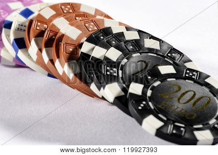 Assorted Denominations Of Poker Chips
