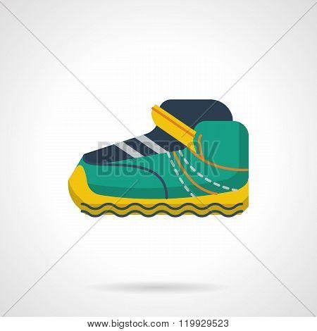 Sport sneaker flat color design vector icon