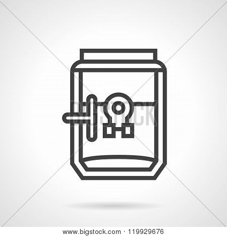 Coffee brewer black line design vector icon