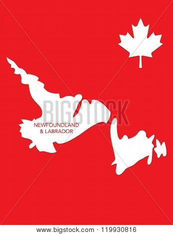 Vector Canadian Province Map - Newfoundland and Labrador
