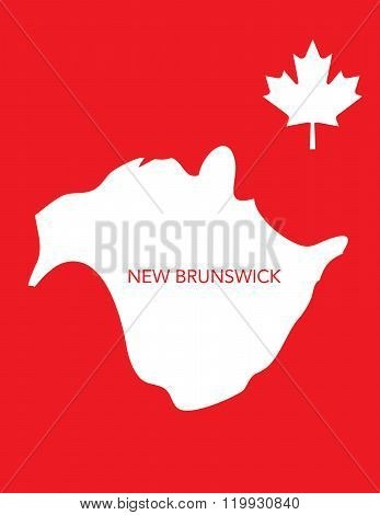 Vector Canadian Province Map - New Brunswick