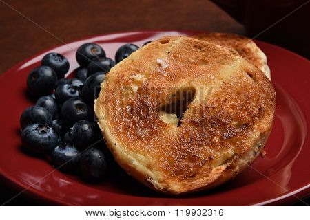 Bagle And Blueberries