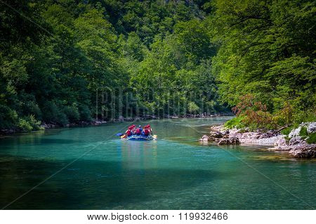 Tara's river rafting in Montenegro