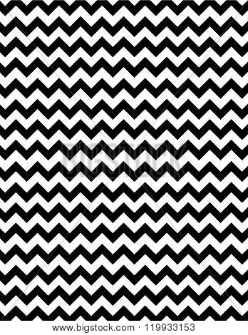 Contemporary Black and White Vector Zig Zag Pattern