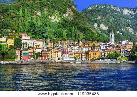 beautiful  Lago di Como - pictorial Varenna vilage