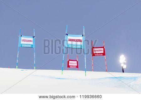 Colorful Slalom Gates Iat A Slalom Event