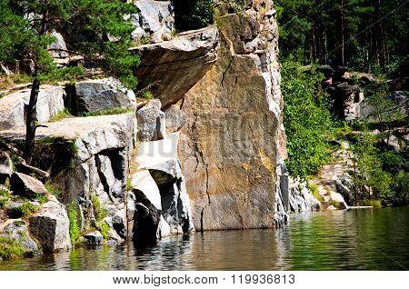 Abandoned Quarry Lanscape