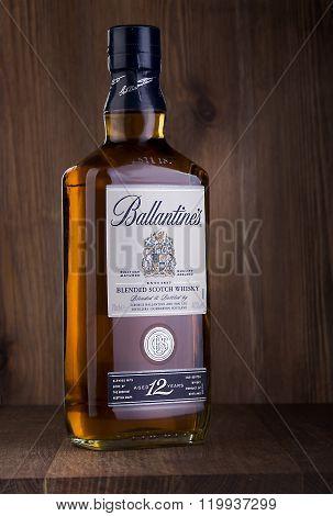 Bottle Of  Ballantine's Whiskey