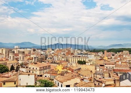 View Over The City Of Girona, Catalonia