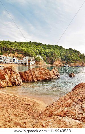 Resort In The Bay Of Tamariu In Spain