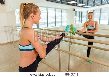 Girl In Fitness Class
