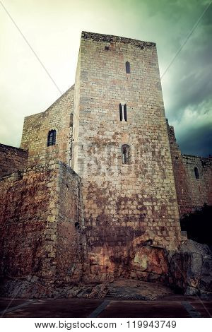 Medieval Castle In The Town Of Peniscola, Spain
