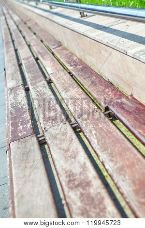 urban outdoor bench