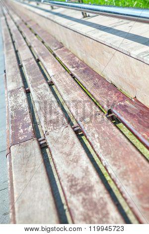 urban outdoor bench