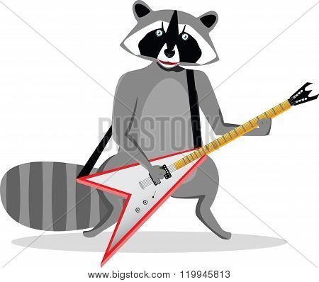 Rock star raccoon
