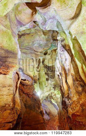 Benidoleig Cueva Calaveras cavern in Alicante at Spain