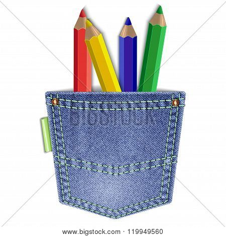 Pocket With Pencils
