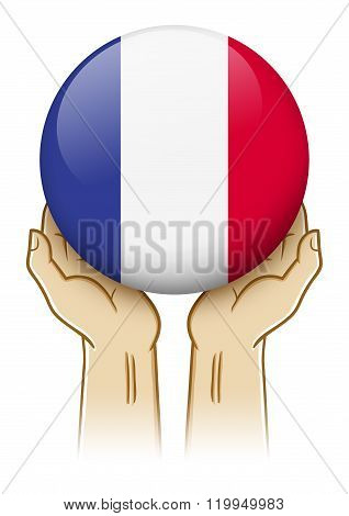 Pray For France Illustration