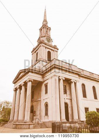 All Saints Church, London Vintage