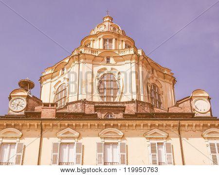 San Lorenzo Church Turin Vintage