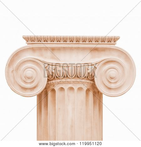 Ionic Capital Isolated Vintage