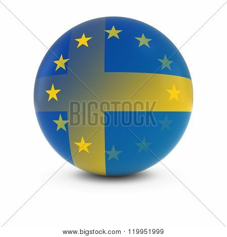 Swedish And European Flag Ball - Fading Flags Of Sweden And The Eu